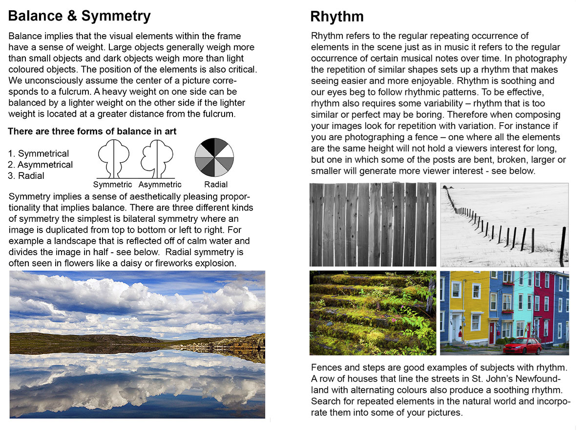 Balance, Symmetry and Rythm by Robert Berdan ©
