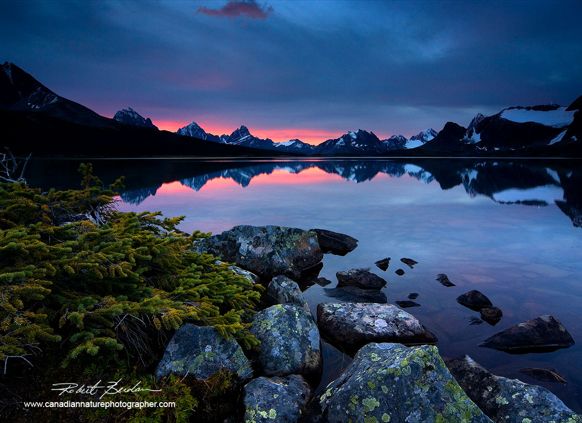 Tonquin Valley, Jasper Nationl Park at sunrise by Robert Berdan ©