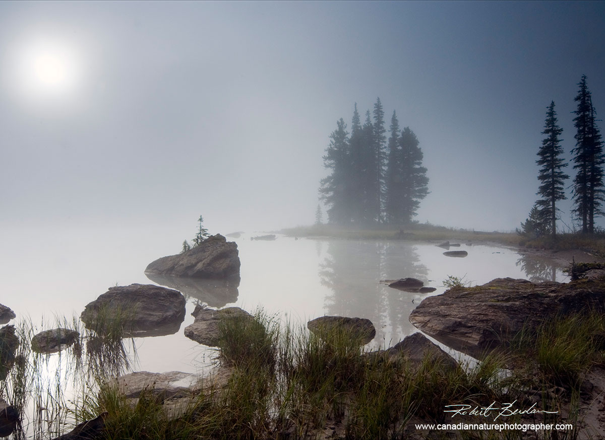 Spirit Island Jasper National Park, AB at sunrise by Robert Berdan ©