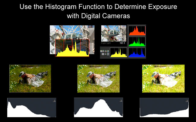 Camera histogram by Robert Berdan ©