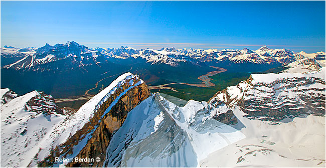 Bow Valley from helicopter by Robert Berdan ©