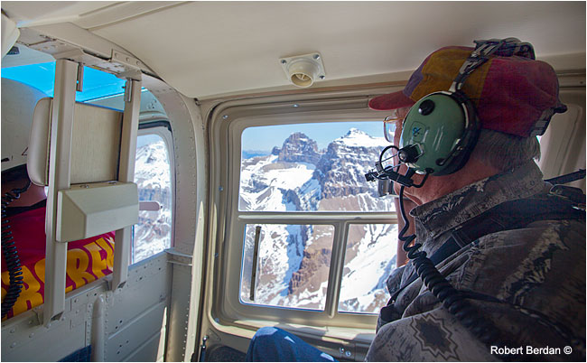 View of the Rockies from backseat of a helicopter by Robert Berdan ©