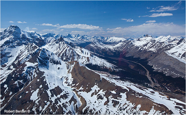 Jasper highway from helicopter by Robert Berdan ©