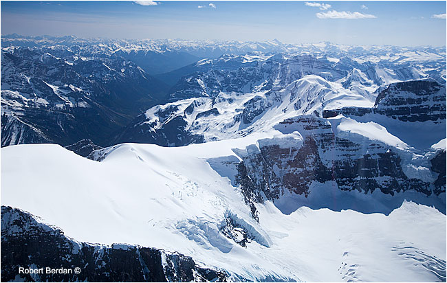 Canadian Rockies from helicopter by Robert Berdan ©