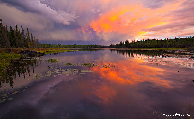Passing storm on small lake next to the Ingraham Trail by Robert Berdan ©