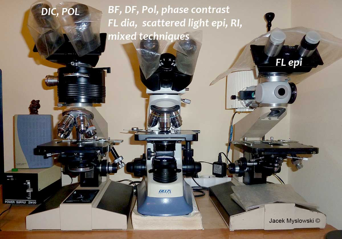 microscopes owned by Jacek Myslowski ©
