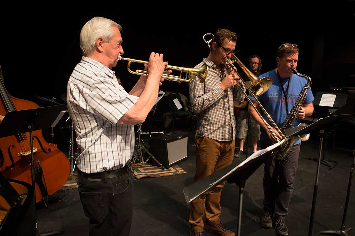 Instructors - Al Muirhead (trumpet), Carsten Rubeling (Trombone) and Jim Brenan (Tenor Saxophone) by Robert Berdan ©