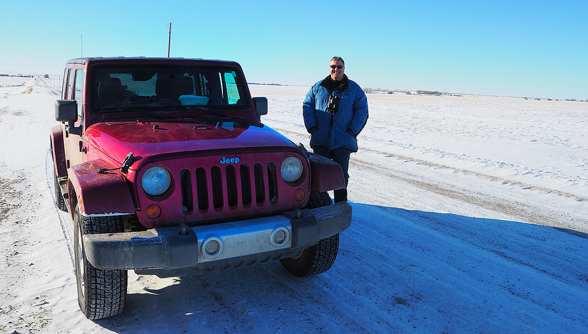 Robert Berdan our guide and his Jeep on the backroads near Bieseker