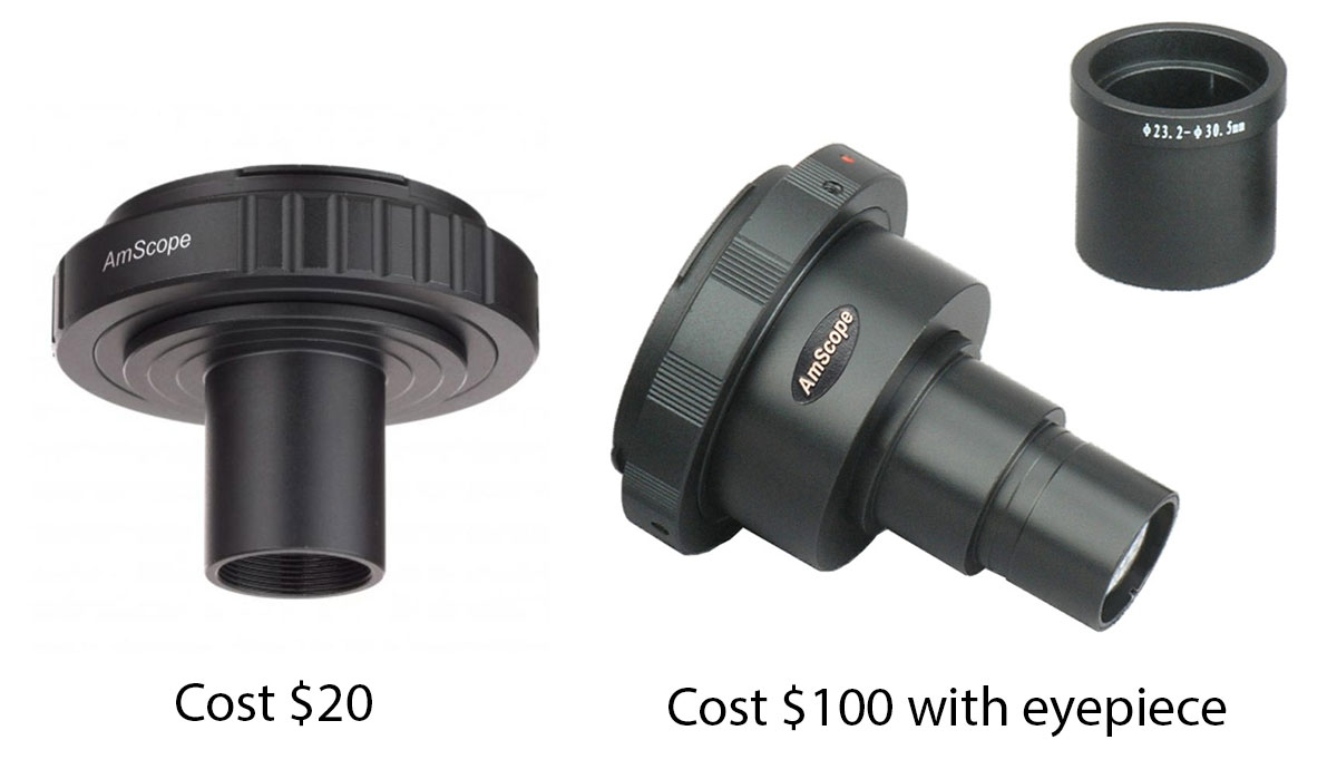microscope camera adapters