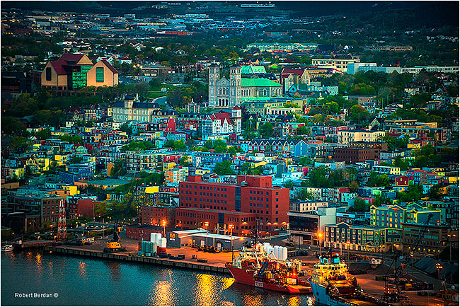 St. John's from Signal Hill at sunrise by Robert Berdan ©