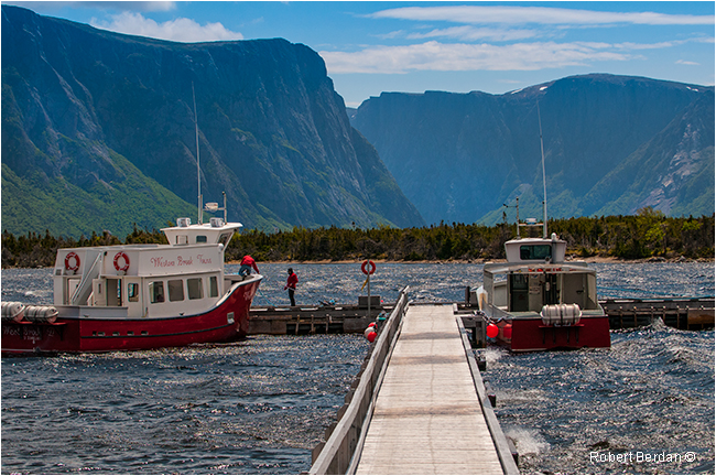 Boat dock on Western Brook Pond, Gros Morne National Park Newfoundland by Robert Berdan ©