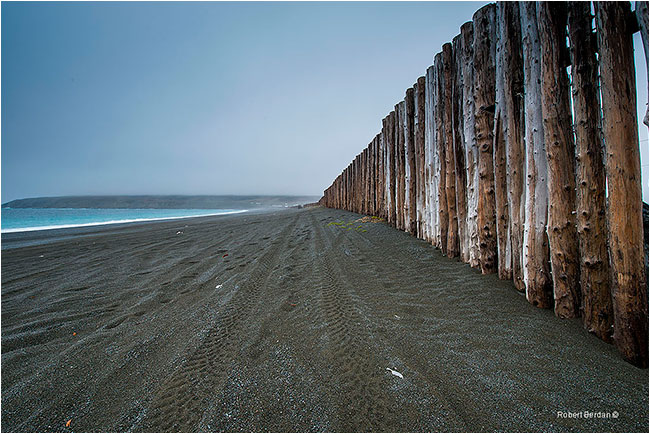 Ocean breakwall in St. Vinccent's by Robert Berdan ©