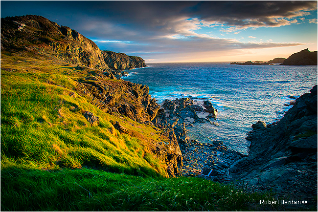Sunset on West Coast of Twillingate near Crow Head Newfoundland by Robert Berdan ©