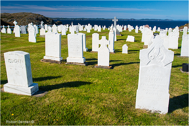 Cemetery in Twillingate Newfoundland by Robert Berdan ©
