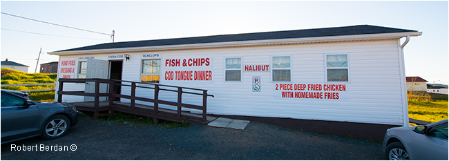 Fish and chip restaurant in Twillingate by Robert Berdan ©