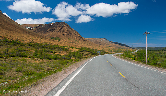 Highway 431 Tablelands Gros Morne National Park Newfoundland by Robert Berdan