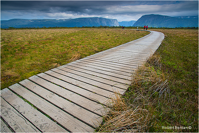 Path to Western Brook Pond and boat dock Gros Morne National Park Newfoundland by Robert Berdan ©