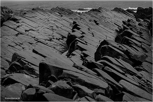 Rock formations at Mistaken Point Newfoundland by Robert Beran ©