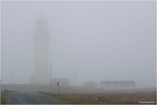 Cape race lighthouse in fog by Robert Berdan ©