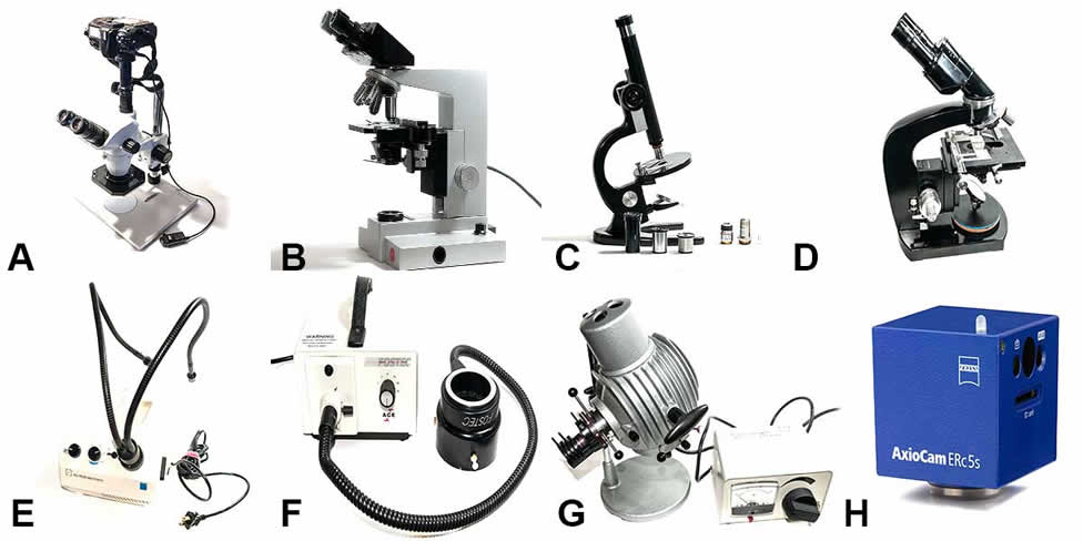 microscopes for sale and fiber optic lights
