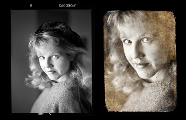 Blending a new photo on a Daguerotype background
