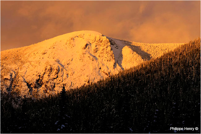 Gaspesie mount Richardson at sunset by Philippe Henry ©