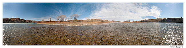 Panorama of the Oldman river by Robert Berdan ©