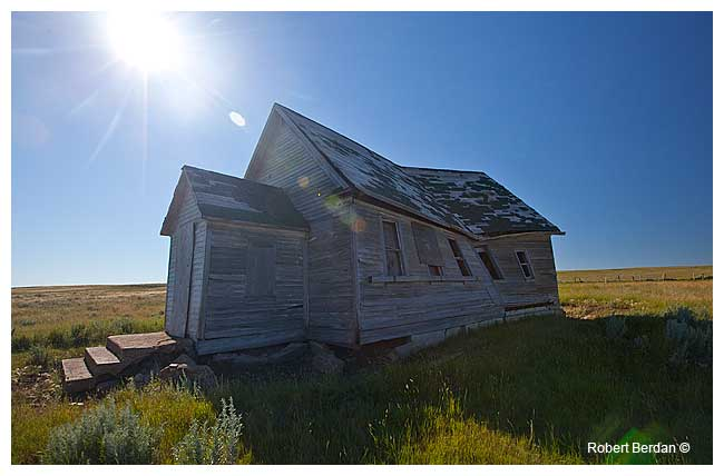 Abandoned church near Red Rock Coulee Alberta by Robert Berdan ©