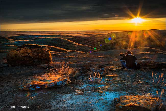 sunset at Red Rock Coulee by Robert Berdan ©
