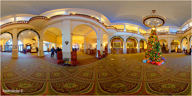 Inside Chateau Lake Louise - 360 panorama by Robert Berdan ©