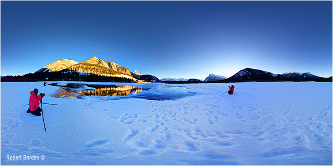 360 panorama of Vermilion lake in Banff National Park by Robert Berdan ©
