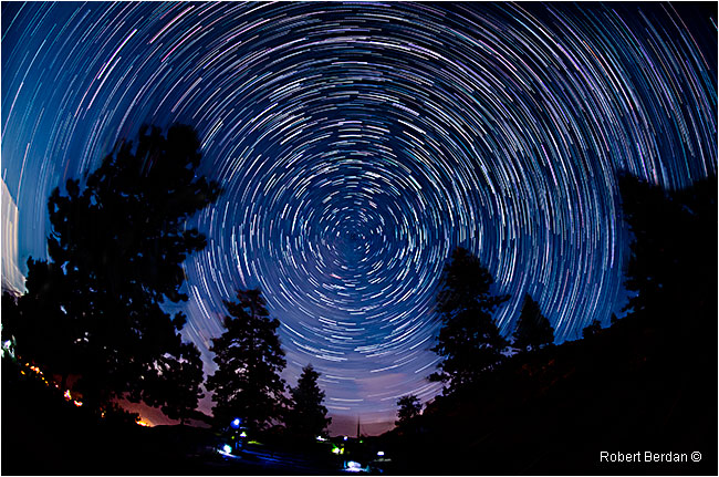Star trails action by Robert Berdan ©