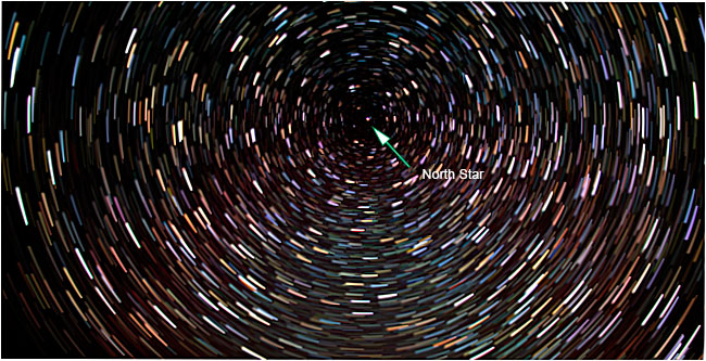 Stars Trails action on night sky by Robert Berdan ©
