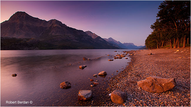 Upper Waterton Lake at sunrise by Robert Berdan ©