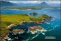 West coast of Vancouver Island  from the air near Toffino British Columbia by Robert Berdan