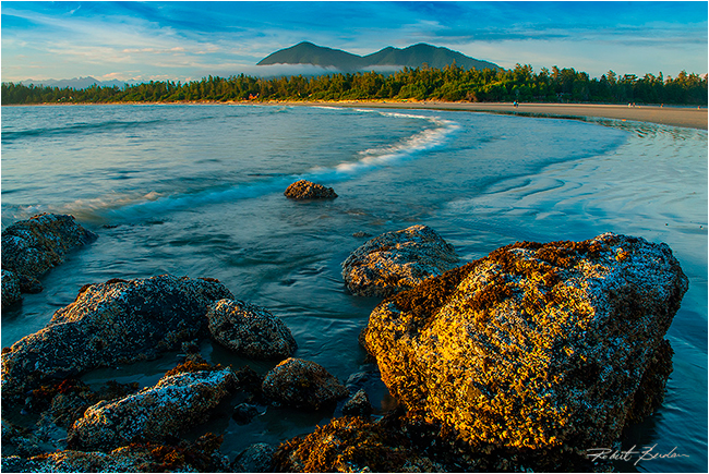 Long Beach with Mount Colnett on Meares Island by Robert Berdan ©
