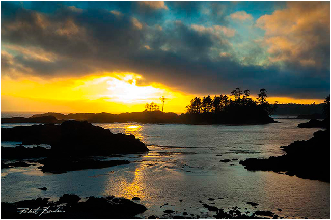 Sunset Wild Pacific Trail by Robert Berdan ©